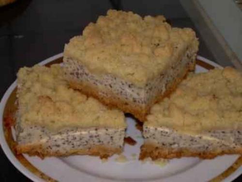 Vanille mohn kuchen mit streusel